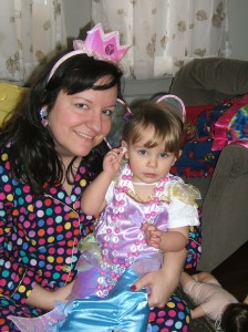 Sara (29) and her daughter (2) two weeks after her preventative bilateral mastectomy